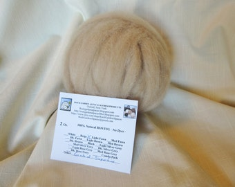 2 oz Alpaca Light Fawn SUPERFINE Roving - for Spinning, Nuno Felting or Needlefelting