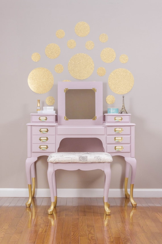 Item Is Sold Gold Dipped Rose Pink French Vanity Dressing