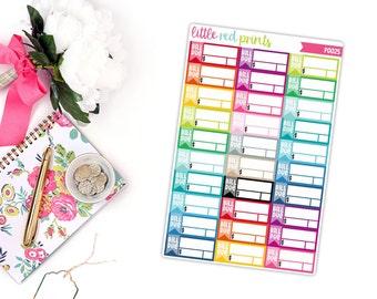 Bill Due Planner Stickers for the Erin Condren Life Planner, Bill Sticker, Label Planner Sticker - [P0025]