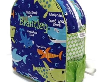 Toddler Backpack, Preschool Backpack, Boys Backpack, Girls Backpack, Shark Backpack, Blue Backpack, Book Bag, Diaper Bag, School Bag