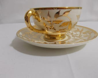 Teacup and Saucer from Myott & Son of England
