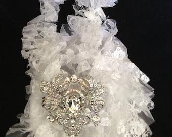 Lace Wedding Bag,  Lace Bridal Bag
