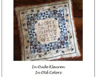 19th century Blanket Motifs in old colors, 19e eeuwse Lappendeeken Motievenin oude kleuren