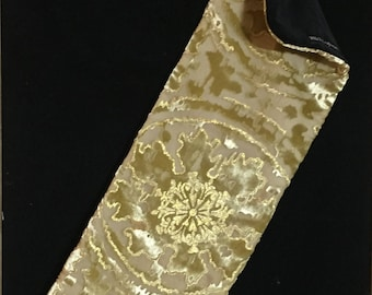 Sunlight Violin Blanket in Silk and Rayon Devore Velvet