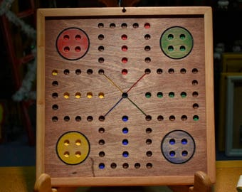 "Old Fashioned Rustic Aggravation Game Board 16"" x 16"""