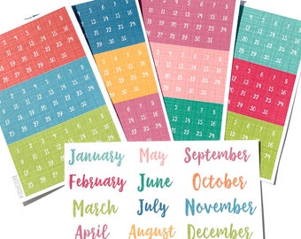 Monthly Scripts and Date Covers for the Erin Condren Academic Planner.