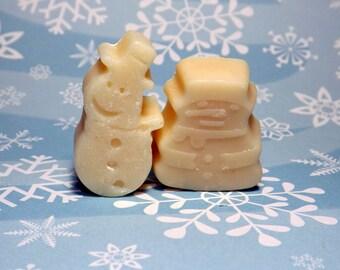 Snowman Soap, Set of 10, Winter Soap, 4 oz, Snowmen, Christmas, Outdoor Fun, Snow Man, Snow Men, Snow Person, Shaped Soaps, Unscented Soap