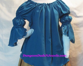 DDNJ Choose Color N Sleeve Style Renaissance Gauze Chemise Plus Custom Made ANY Size Anime Cosplay Steampunk Pirate Wench Princess Costume