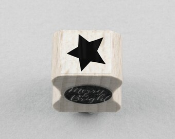 Rubber Stamp Star 1 x 1 cm