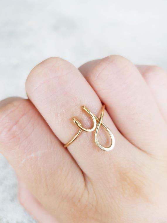 Ersten Ring Buchstabe Y Ring personalisierte Draht erste Ring