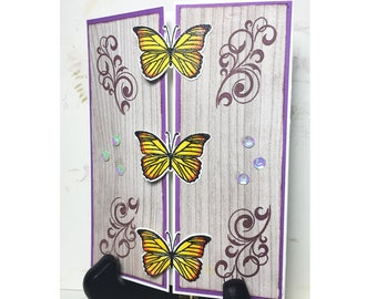 Butterfly Gatefold Handmade Greeting Card
