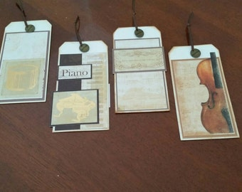 The Musicians Set of 4 Tags