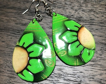 Natural Coconut Shell Earrings