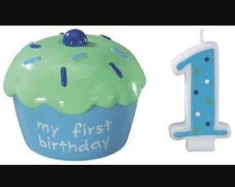 Decopac Baby's 1st Birthday cupcake keepsake cake topper