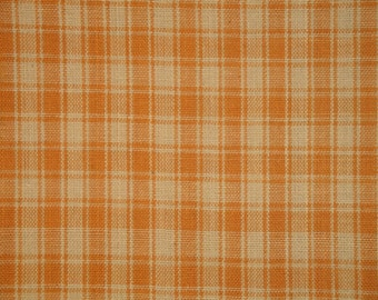 Cotton Homespun Fabric | Plaid Fabric | Quilt Fabric | Home Decor Fabric | Craft Fabric | Light Brown Plaid Fabric | 1 Yard
