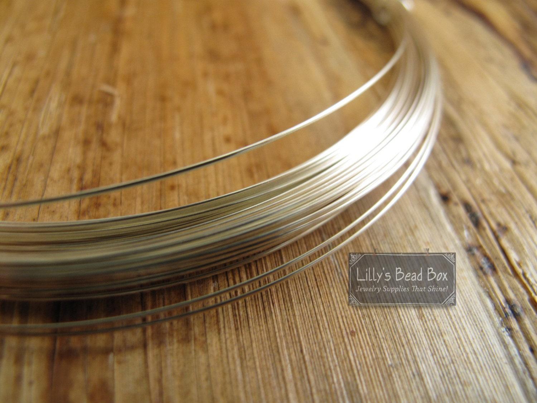 22 Gauge Wire, 10 Feet of .925 Sterling Silver Wire, Half Hard ...