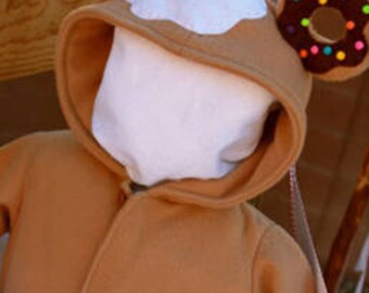 Custom Donut Kid One Piece Hoodie  - size 6-12