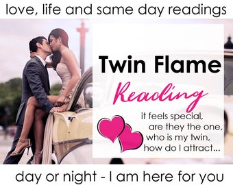 TWIN FLAME Reading by Professional Intuitive Medium Melissa - email + pdf