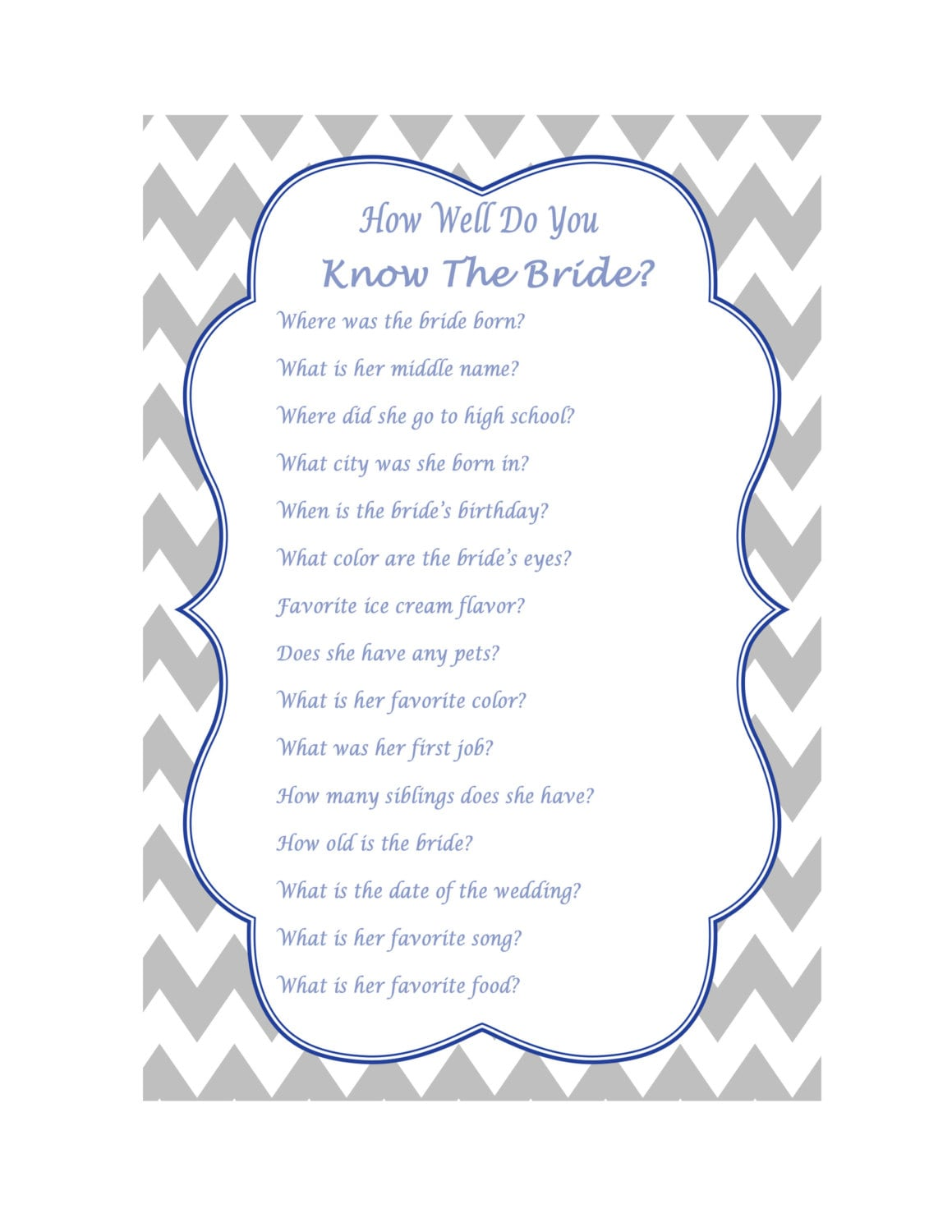 How Well Do You Know The Bride Wedding Quiz Wedding Trivia
