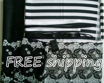 BRA Kit Black & White Stripe FREE Shipping by Merckwaerdigh