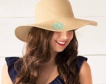 Monogrammed Sun Hat / Monogrammed Beach Hat / Beach Hat