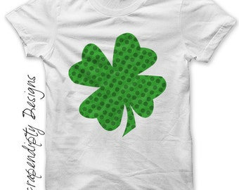 Shamrock Iron on Shirt PDF - St. Patricks Day Iron on Transfer / Irish Nursery Wall Art / Kids Celtic Shirt Design / Custom Digital IT157
