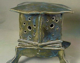 Ceramic Asian style Candle Lantern