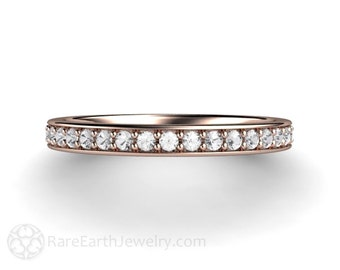 Diamond Wedding Band Diamond Anniversary Band Diamond Ring 14K or 18K Gold Platinum or Palladium