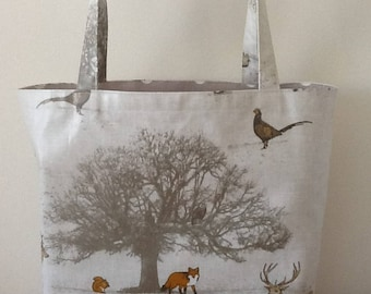 Oilcloth tote bag/ shopper/lunch bag