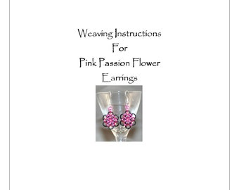 PDF Instructions For Pink Passion Chainmaille Earrings