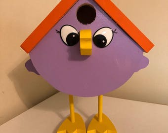 Birdhouse - Purple Bird