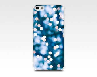 fairy lights iphone case 5s iphone 6 case bokeh iphone 4s case abstract iphone case 4 fine art iphone 5 case teal fairy lights sparkle navy