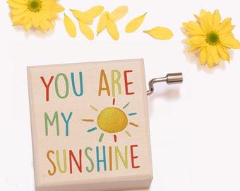 Music Box, You Are My Sunshine, Baby Shower Gift, New Baby Gift, Christening Gift, Baptism Gift, New Mum Gift, Naming Day Gift, Baby Gift