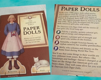 Kirsten's Paper Dolls - American Girl Collection - Pleasant Compay
