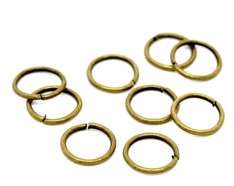 8mm Jump Rings : 100 Antique Bronze Jump Rings | Brass Open Jump Rings 8 x 1mm  (18 Gauge) -- Lead, Nickel & Cadmium free 8/1