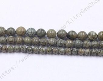 6-10mm Alligator Skin Jasper Beads MHA-189