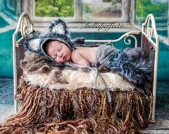 Wolf Baby Costume | Baby Big Bad Wolf Costume | Baby Animal Outfit | Baby Halloween Costume | Infant Costume | Baby Halloween Costume