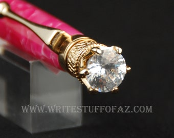 Mother's Day  Hot Pink Crush Twist Pen, Adorned with Swarovski Crystal