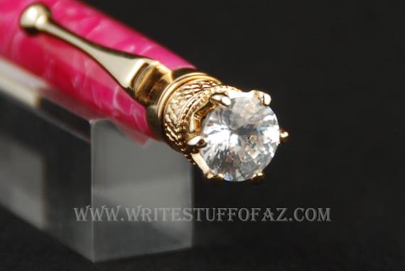 Hot Pink Crush Twist Pen, Adorned with Swarovski Crystal