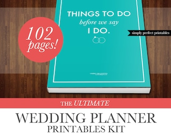 Wedding Planner Kit - PDF Digital Printables