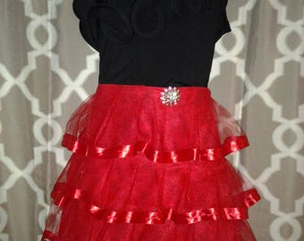 Couture Candy Apple Red Waistline Apron