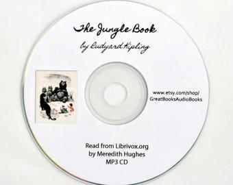 The Jungle Book, by Rudyard Kipling {Audio Books, Vintage Books, Children's Books, Book Lover Gifts, Homeschool Favorites}