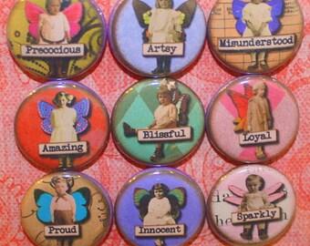 Cute Fairies Magnets - One Inch