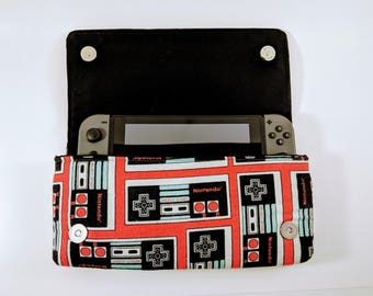 Nintendo Switch Case, Classic NES Case, Gamer Gift, Switch Case, Switch Cozy, Nintendo Gift, Geek Gift, Super NES, Electronic Case