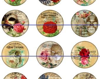 Magnets Pins Mask Roses, Wedding Favors, Fridge Magnets