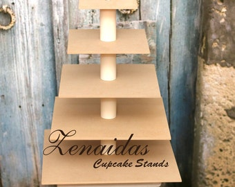 Cupcake Stand 5 Tier Square DIY Project Display Stand Birthday Wedding
