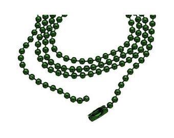 Ball chain / ball fine 60cm SPRUCE GREEN