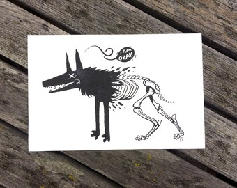 Okay Wolf Print