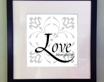 Inspirational Quote Digital Art Print, Encouraging Digital Art Print, Typography Quote, Printable Art, Instant Download