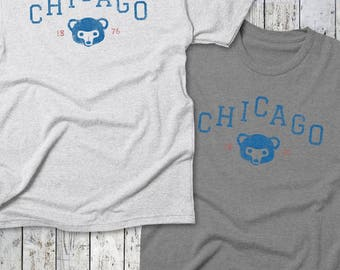 Chicago CUBS Tee -- Chicago Baseball, Cubbies, Cubs Tee, Est. Tee